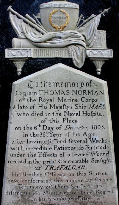 Trafalgar headstone