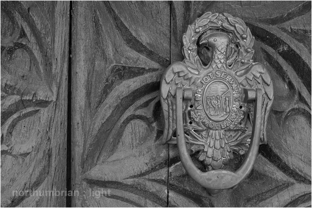 Door knocker at the Chateau