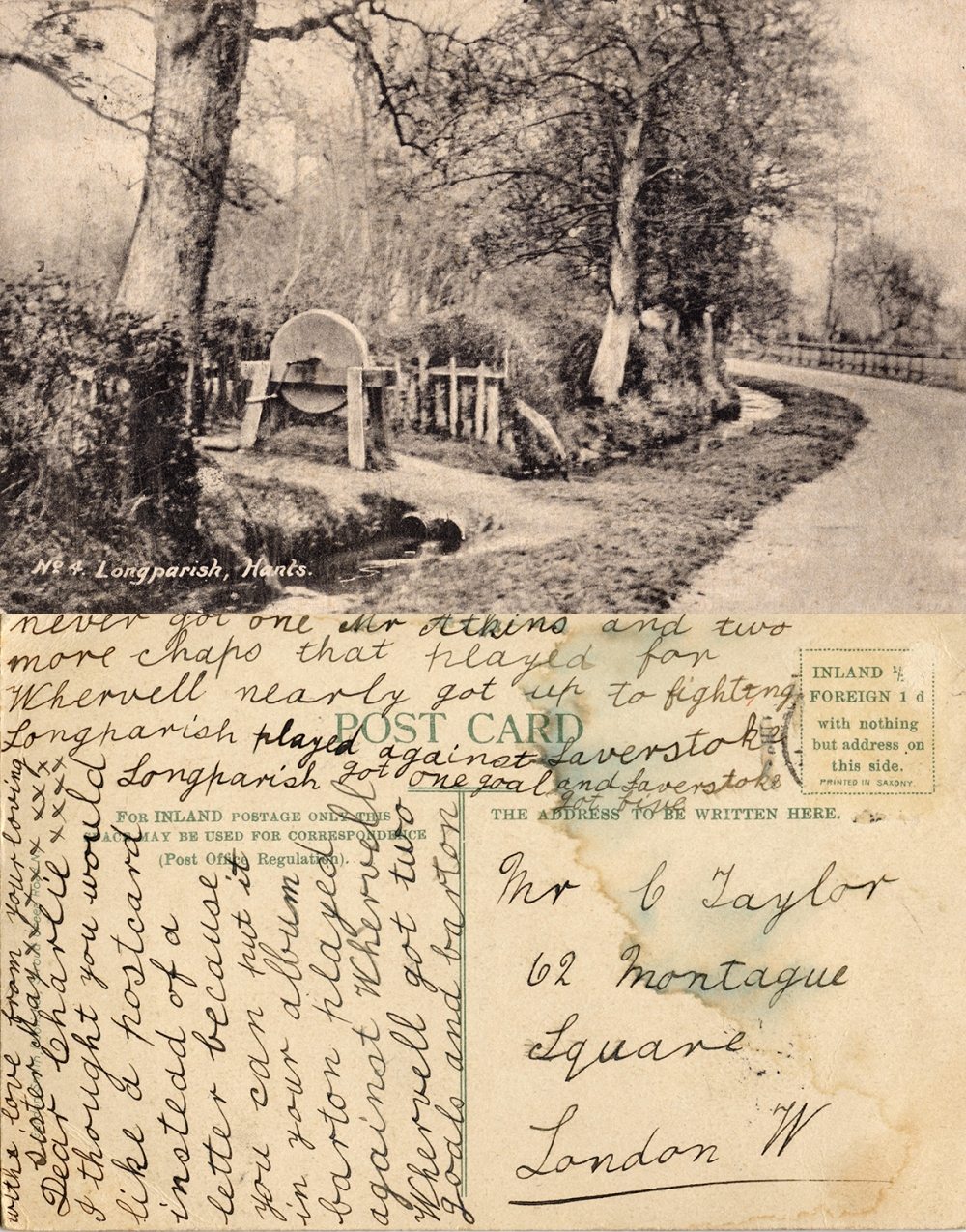 Longparish postcard