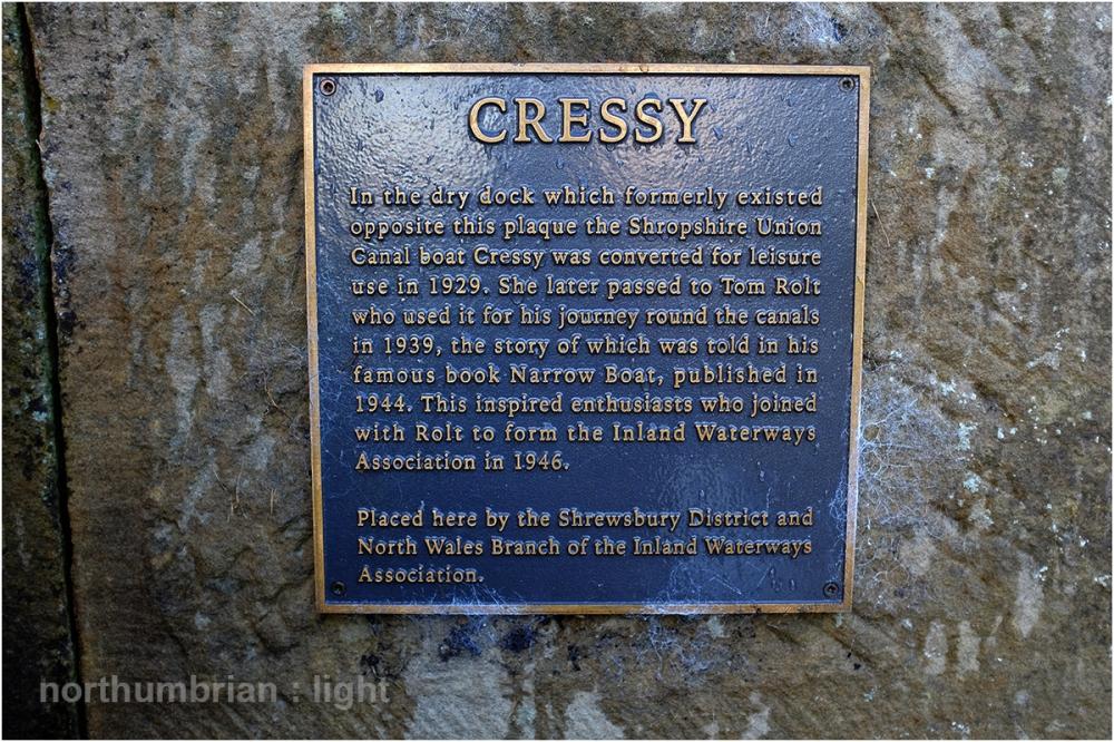 Cressy plaque