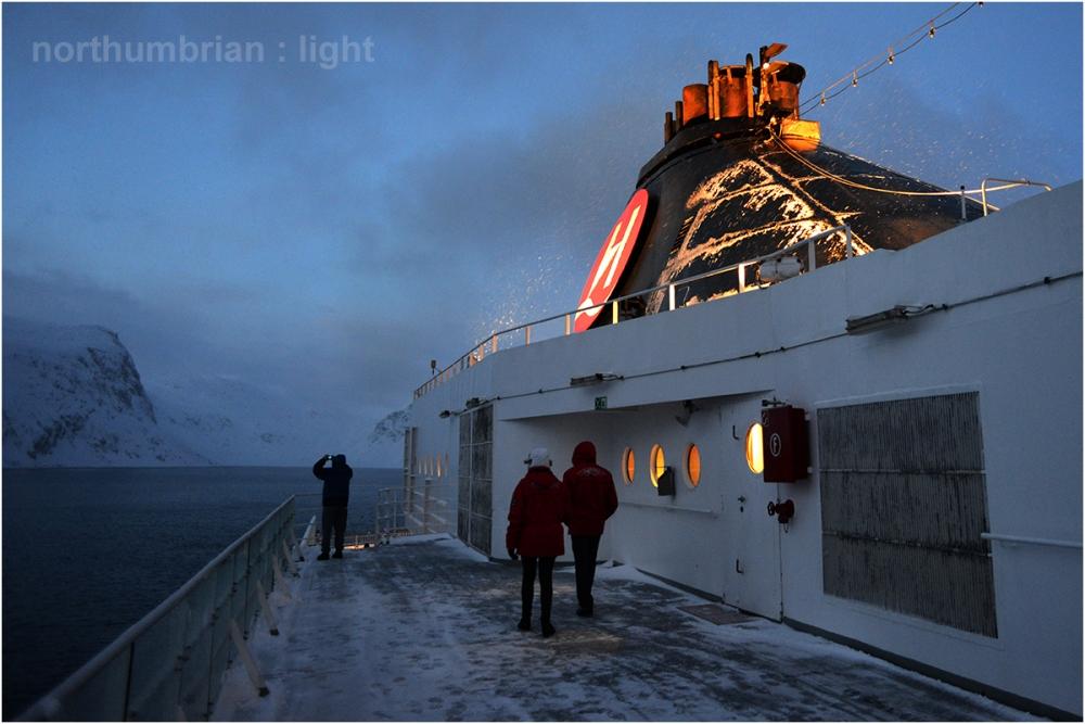 Aboard Finnmarken ...