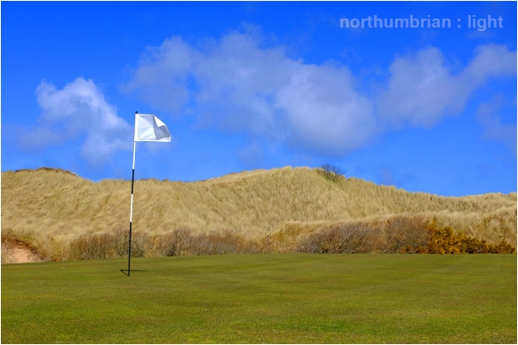 The fifth green ...