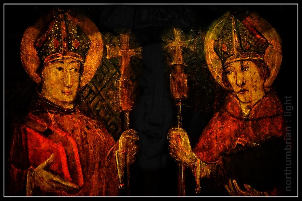 Hexham Abbey panels ...