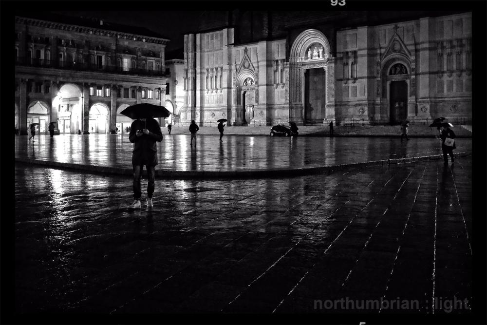 A rainy night ...