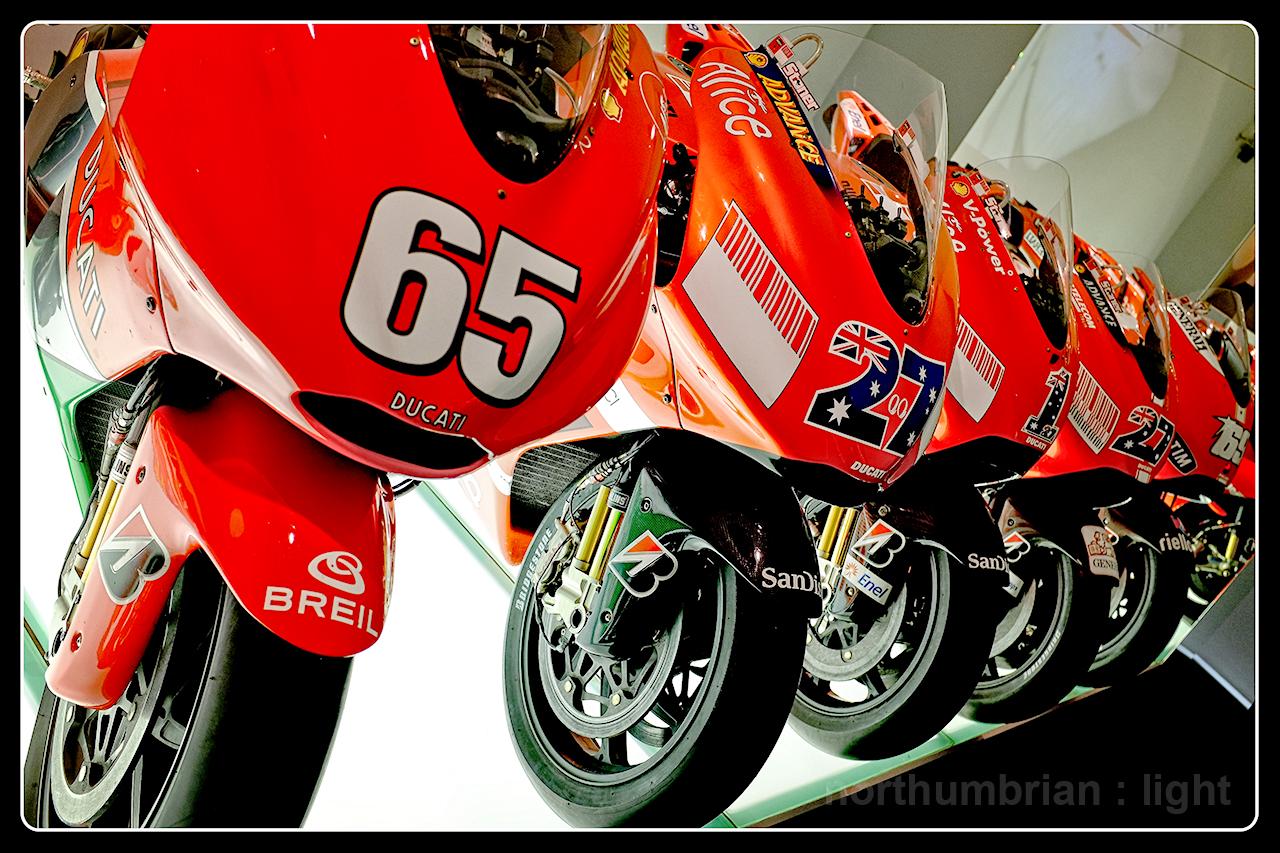The GP bikes ...