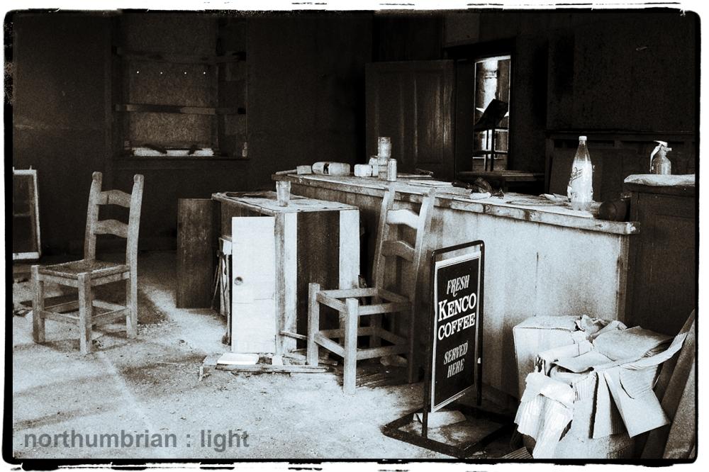 Abandoned luncheonette...