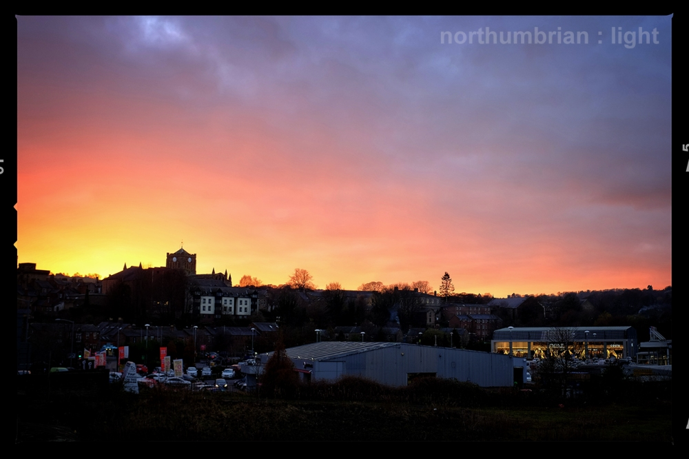 Hexham sunset ...